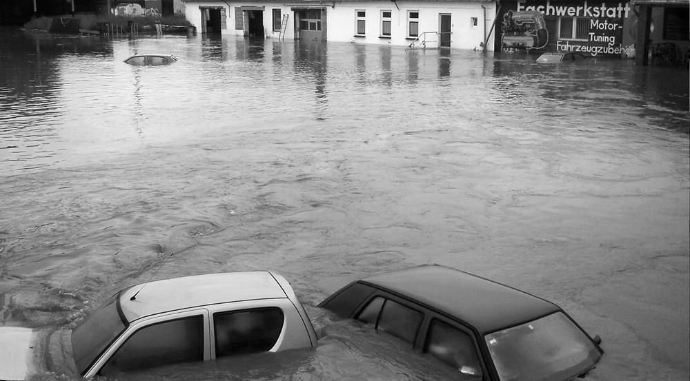 Hochwasser Grundstück